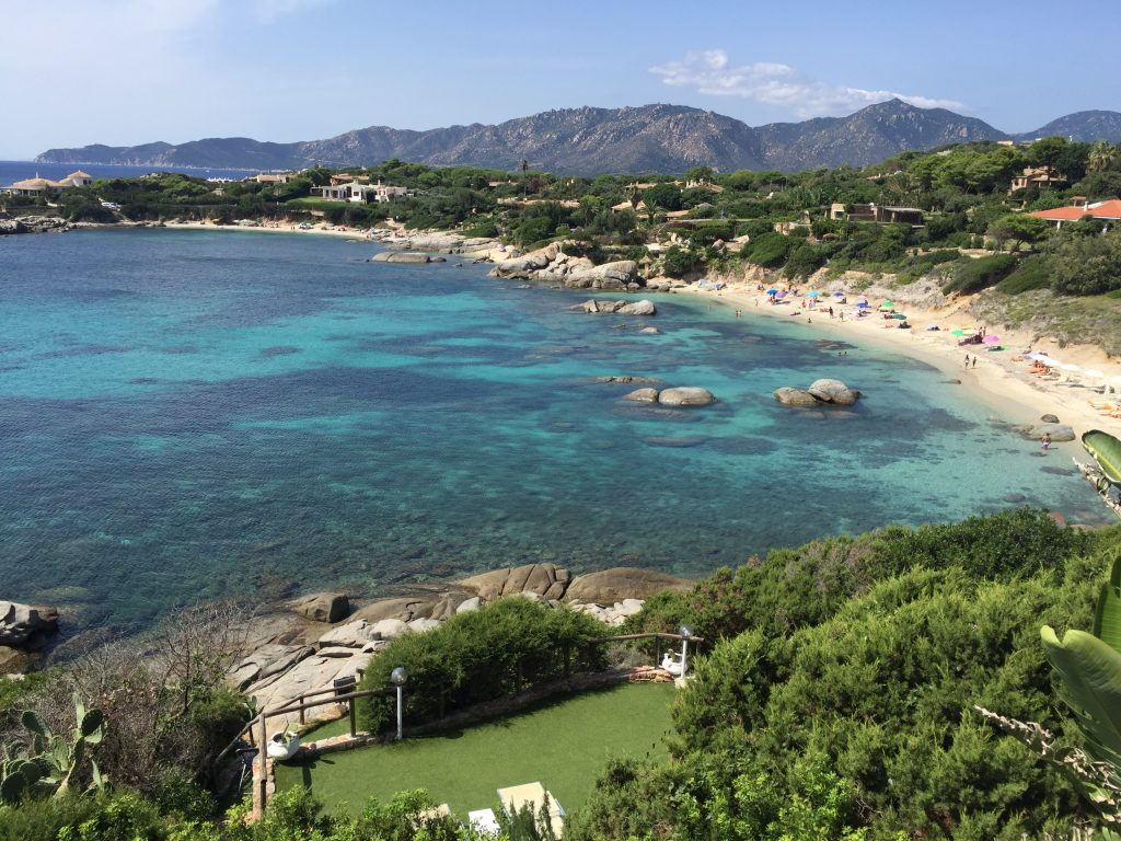 Cala Caterina beach seen from the terraces and with direct access from the house