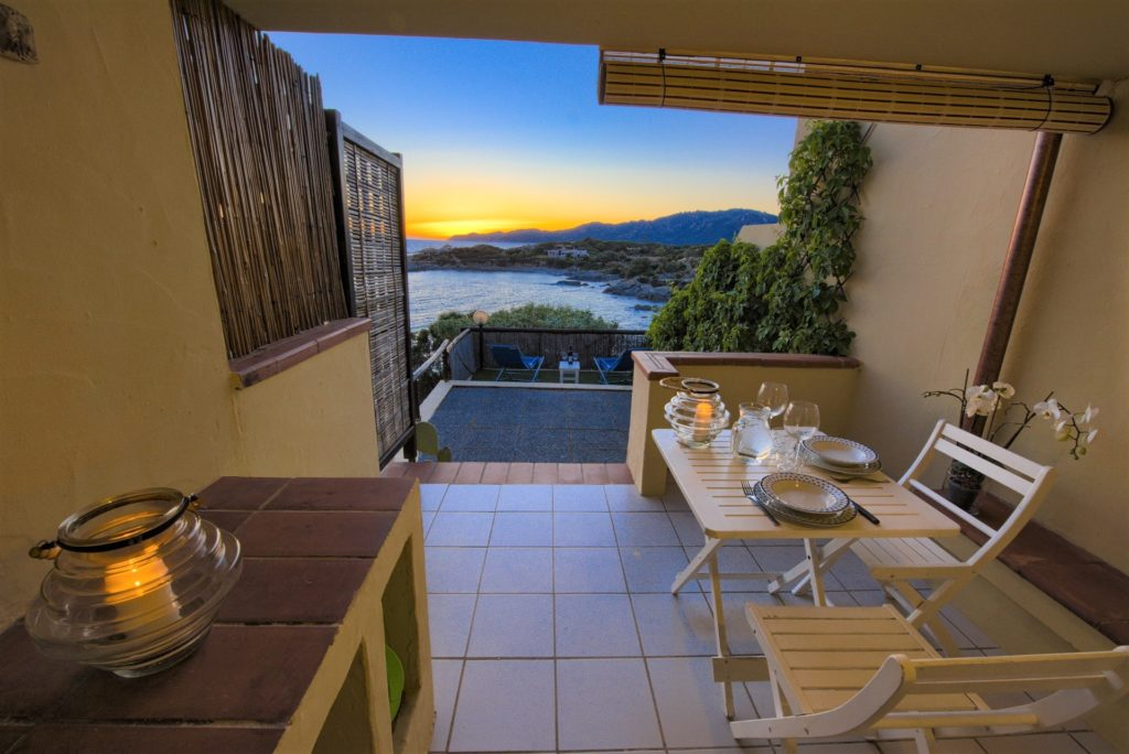 veranda and terraces with breathtaking sunset view