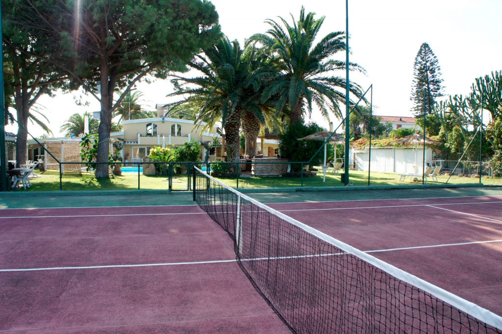 View of the Villa from the tennis court