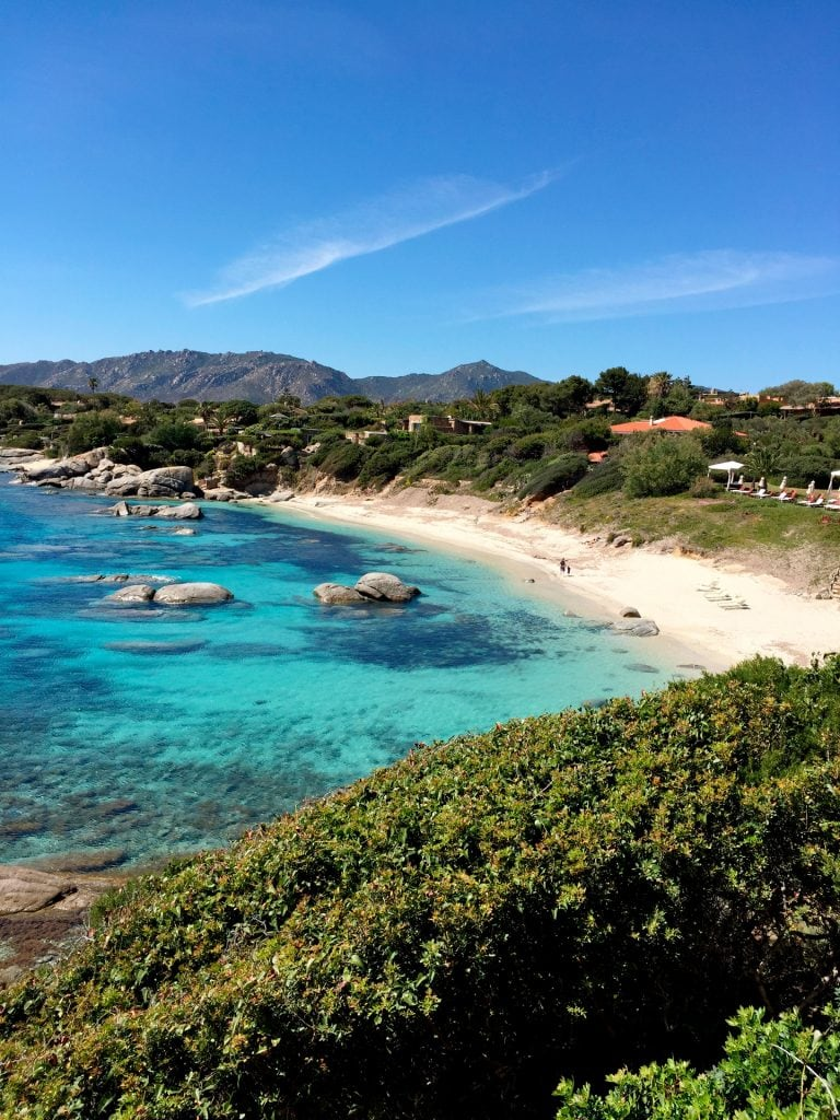 Cala Caterina beach seen from the house and with direct access from the house