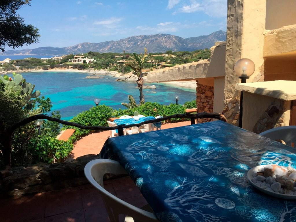 Bay of Cala Caterina seen from the terraces, with direct access from the villa