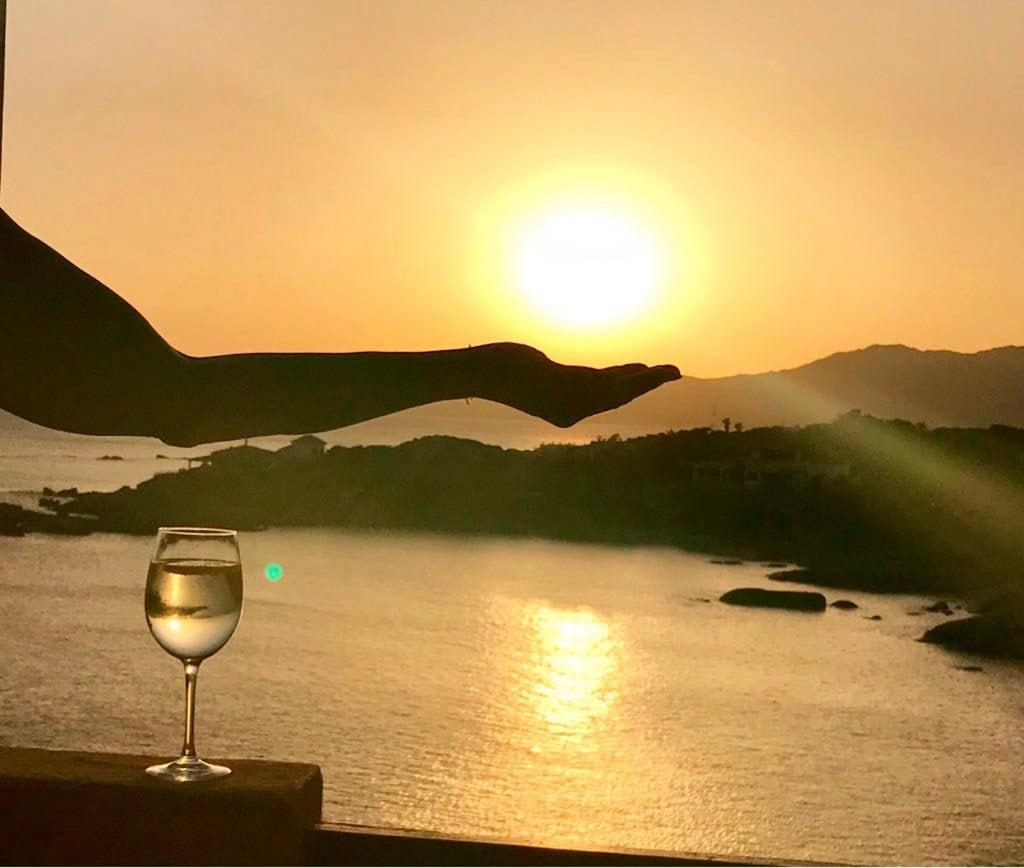 sunset seen from the terrace of the villetta