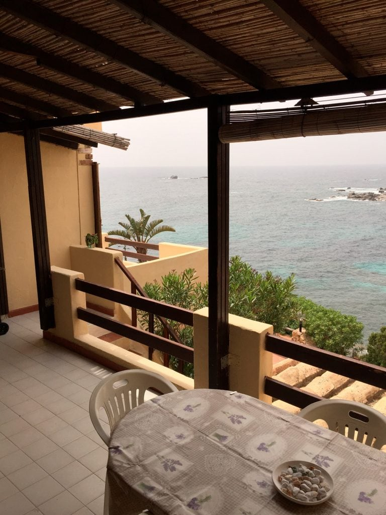 terrace with stunning views of the bay, the beach and sunset front