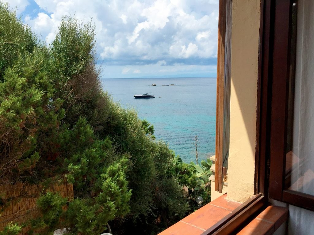 photo taken from the window of a double bedroom of the Villa